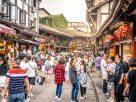 เที่ยวเมืองโบราณสือชี่โข่ว เมืองอนุรักษ์ของรัฐบาลจีน ชิมขนมโบราณ