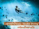"""อยากดำน้ำแบบ """"Scuba Diving"""" เตรียมตัวอย่างไร"""